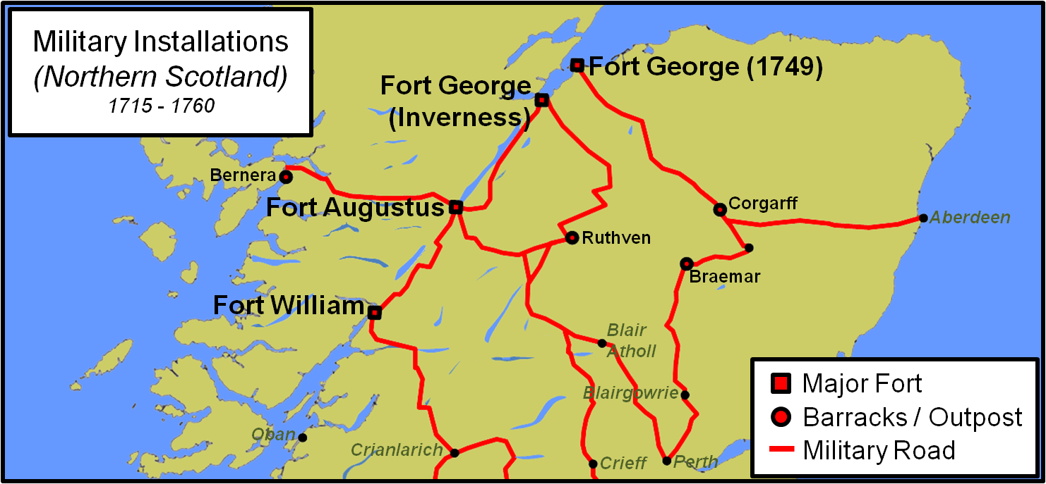 Fort Williams Scotland Map.Fort William Highlands Castles Forts And Battles
