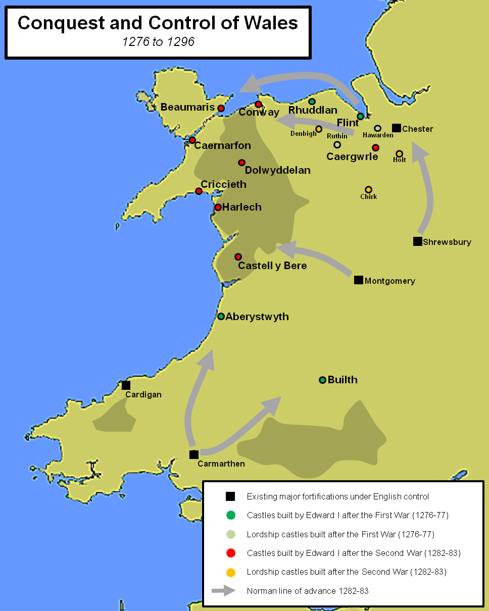 Map Of England Castles.Beaumaris Castle North Wales Castles Forts And Battles