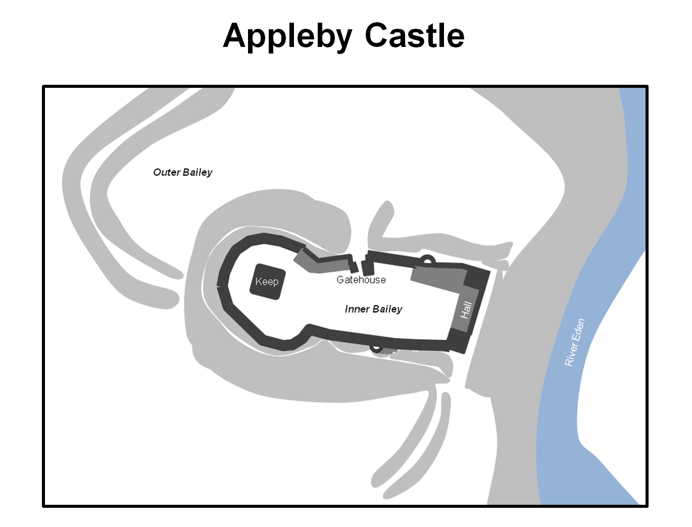 Appleby castle north west england castles forts and battles appleby castle layout the castle was originally a ringwork and bailey fortification a stone keep was built within the ringwork during the twelfth century pooptronica Images