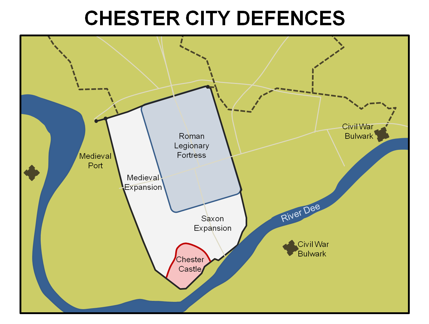 Chester Castle And City Walls North West England Castles Forts
