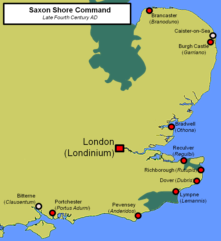 Map Of England Castles.Portchester Castle South East Castles Forts And Battles