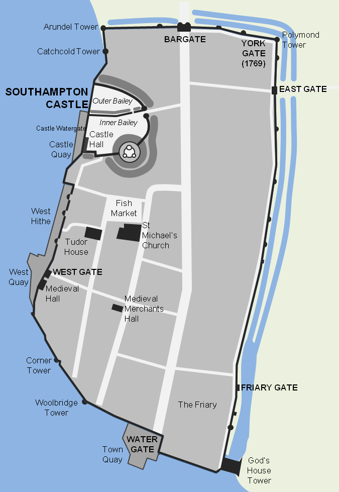 Southampton Castle and Town Walls South East Castles Forts and
