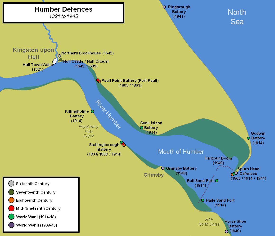 Map Of Uk Hull.Fort Paull Paull Point Battery Yorkshire Castles Forts And